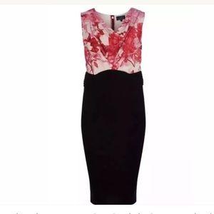 Ted Baker London Floral Drape Neck Dress